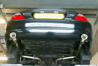 "Jaguar S Type 4.2 V8 Rear silencer delete pipes - 4"" Oval tail pipe"
