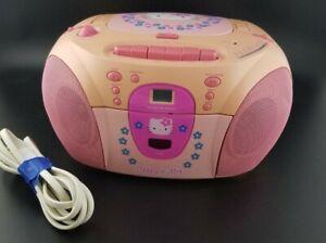 Hello Kitty  Radio / Cassette / CD Player HK22 - Peach / Pink Boombox. READ DESC