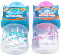 Griptight - Standard Neck Baby Bottle with medium flow teat - 60ml 125ml & 250ml