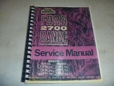 Ford 2701E 2703E 2704E 2706E 2708E 2709E Diesel Engine Service Repair Manual