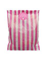 Rosa y blanco bolsas papel fiestas & 30mm búho pegatinas - 24 de cada en pack