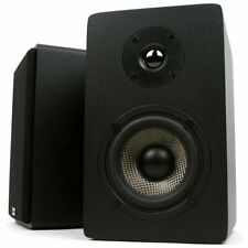 Micca MB42X Bookshelf Speakers 4 Inch Carbon Fiber Woofer Silk Dome Tweeter New