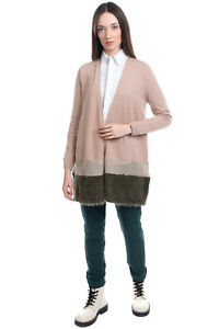 RRP €200 IVORIES Cardigan Size M Wool Blend Thin Knit Hairy Effect Block