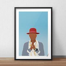 Pharrell INSPIRED WALL ART Print / Poster A4 A3 rapper, singer, happy