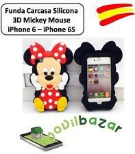 FUNDA CARCASA  IPHONE 6 y 6S 4.7 MINNIE MOUSE SILICONA 3D.ESPAÑA.MÁS EN TIENDA