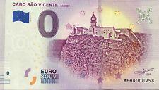 BILLET 0 EURO SOUVENIR CABO SAO VICENTE SAGRES PORTUGAL  2019-1