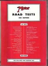 Essais routiers à moteur 1958 annuel VOITURES AUSTIN Edsel Goggomobil lotus MG SIMCA standard