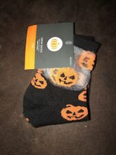 Target Halloween Pumpkin Crew Socks Trick Or Treat Black Orange One Size