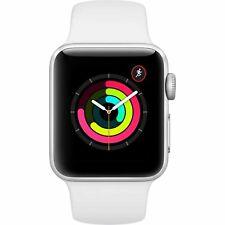 Reloj de Apple serie 3 GPS con Banda Deporte Blanco 38mm Plata Modelo mtey 2LL/A