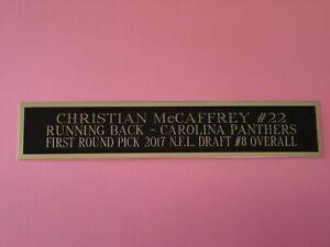 "Christian McCaffrey Carolina Panthers Engraved Nameplate 1.5"" X 8"""