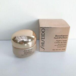 Shiseido Benefiance NutriPerfect Night Cream, 10ml / 0.35oz, Brand New in Box