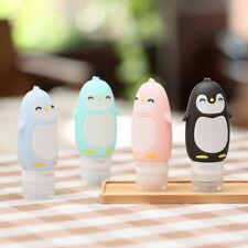 Penguin Silicone Empty Travel Bottle Set Lotion Shampoo Container 3 fl oz* 4 pcs
