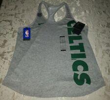 Nike Dri-Fit Women's Boston Celtics NBA Tank Top Racer Back Size L Gray/Green