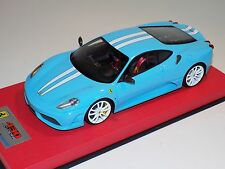 1/18 Looksmart MR Ferrari F430 Scuderia Baby Blue White Stripe Leather  25 pcs