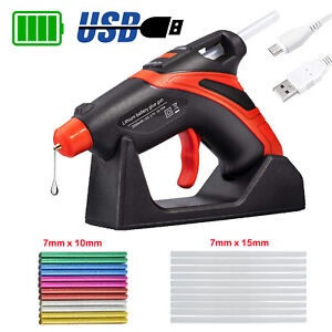 Hot Melt Glue Gun Fast Preheating USB Rechargeable Battery + 20PCS Glue Sticks