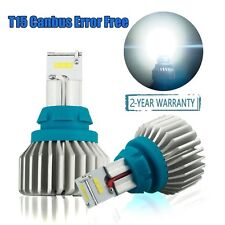 Canbus T15 LED Bulbs Bright White CSP 2000 Lumens Error Free 912 921 9SMD 6500K