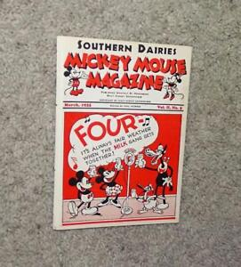"""DISNEY1935 DAIRY PROMOTIONAL""""MICKEY MOUSE MAGAZINE""""MARCH,VOL.II,NO.5-RARE N.MINT"""