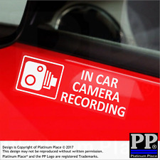 In Car Camera Recording Warning Stickers-External CCTV Sign-Van,Taxi,Cab-Tinted