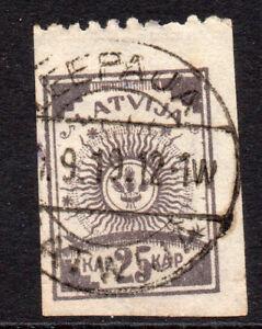Latvia 25 Kap Stamp c1919 Used