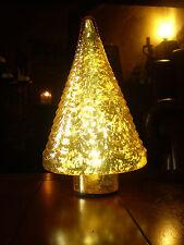 Hermoso danés árbol de Navidad de cristal con batería de la lámpara.