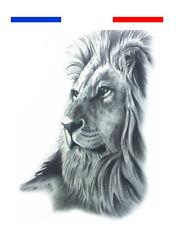 ►► Tatouage Temporaire Tattoo Ink Lion Style Réaliste Roi