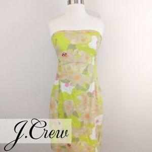 J. Crew • Linen Floral Dress