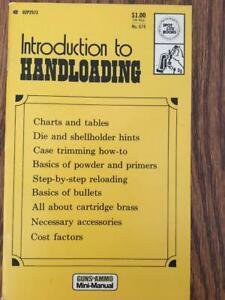 1973 GUNS & AMMO INTRODUCTION TO HANDLOADING MANUAL