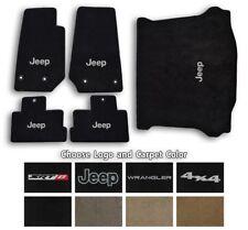 Jeep Wrangler Velourtex Carpet 5pc Floor Mat Set - Choose Color & Logo