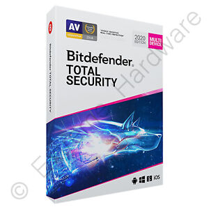 Bitdefender Total Security & VPN Multi Device 2020 / 2021 3 Users 1 Year Licence