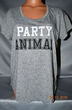 Victorias Secret Supermodel PARTY ANIMAL Marled Tee Shirt Top Short Sleeve NWT M