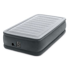 Intex Dura Beam Plus Series Comfort Plus Elevated Airbed w/ Built in Pump, Twin