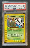 Pokemon PSA 8 Butterfree Holo Expedition #5/165