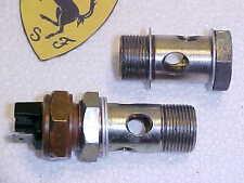 Ferrari 308 Engine Oil Cooler Line Hose Banjo Fittings_Sending Unit Sensor OEM