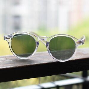 Round G15 Green Polarized Sunglasses Mens johnny depp clear Glasses Green Lens