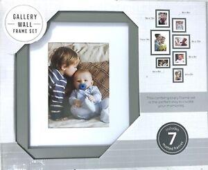 Gallery Perfect 7 Piece Gray Photo Kit Frame Set, Multi Size