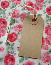 Vintage Style Gift/ Luggage Tags - Pack of 10 Plain Brown Tags- Wedding Crafting