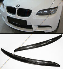 07-2012 BMW E92 E93 335I 335CI COUPE REAL CARBON FIBER HEADLIGHT EYE LID EYEBROW