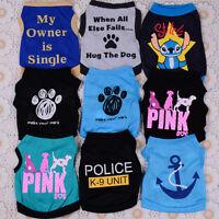 9PCS Lot Dog Boy Clothes Small Pet Puppy Clothing T Shirt Vest Summer XS S M L