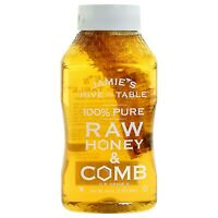 (2) Jamie's Hive to Table 100% PURE Raw Honey & Honey Comb, 100% Natural,16 Oz