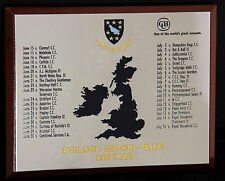 CRUSADERS CRICKET TEAM 1995 ENGLAND IRELAND WALES TOUR WALL PLAQUE