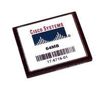Genuine Cisco Compact Flash Memory Cf Card 64 Mb 64mb 17 1841 2801 2811 2821 285