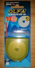 Olfa RB45-10 45mm (10 Spare Rotary Cutter Blades)fits RTY-2/G RTY-2/C & RTY-2/DX
