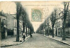 Carte MONTREUIL SOUS BOIS Boulevard de l'Hôtel de Ville Boucher sur rue