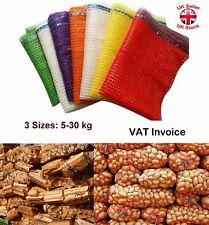 More details for net raschel bags sacks vegetables logs kindling wood log mesh 3 sizes 5-30kg