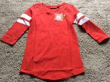 BNIP New Ferrari Red Women's Race 3/4 Sleeve Tee Shirt - Size XXS