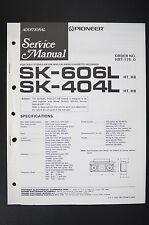 Pioneer sk-606l/404l Original Additional service-manual/schéma de branchement/Diagram o20