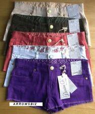 Women Girls Denim Jeans Hot Pants Ripped Shorts Beach Sports Workout UK Stock