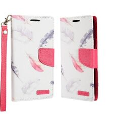 For LG Aristo Premium Leather Wallet Case Pouch Flip Phone Cover Accessory
