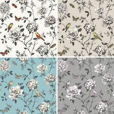 Floral Rasch Wallpaper Rolls & Sheets with Glitter