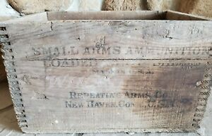 Vintage Wooden Ammunition Box Winchester Repeating Arms Co New Haven Conn USA